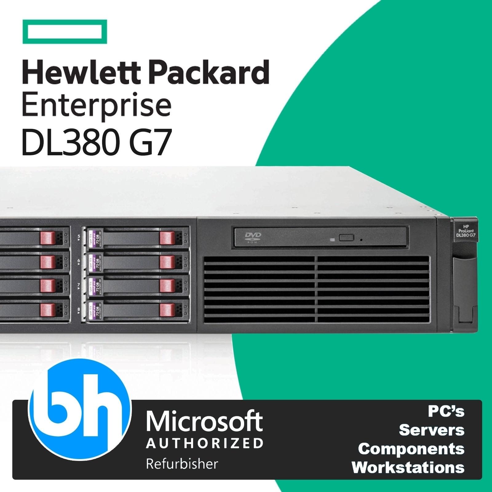 HP Proliant DL380 G7 SERVER 2x QUAD CORE E5620 2.40GHz 64GB RAM NO HDD