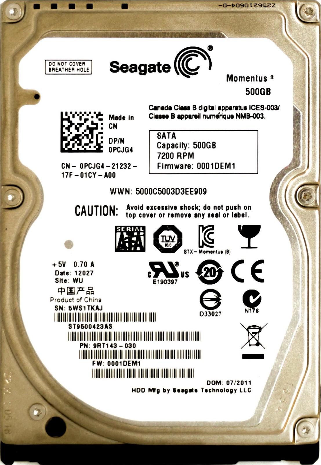 DELL OPTIPLEX 9010 SEAGATE ST9500423AS WINDOWS 7 64 DRIVER