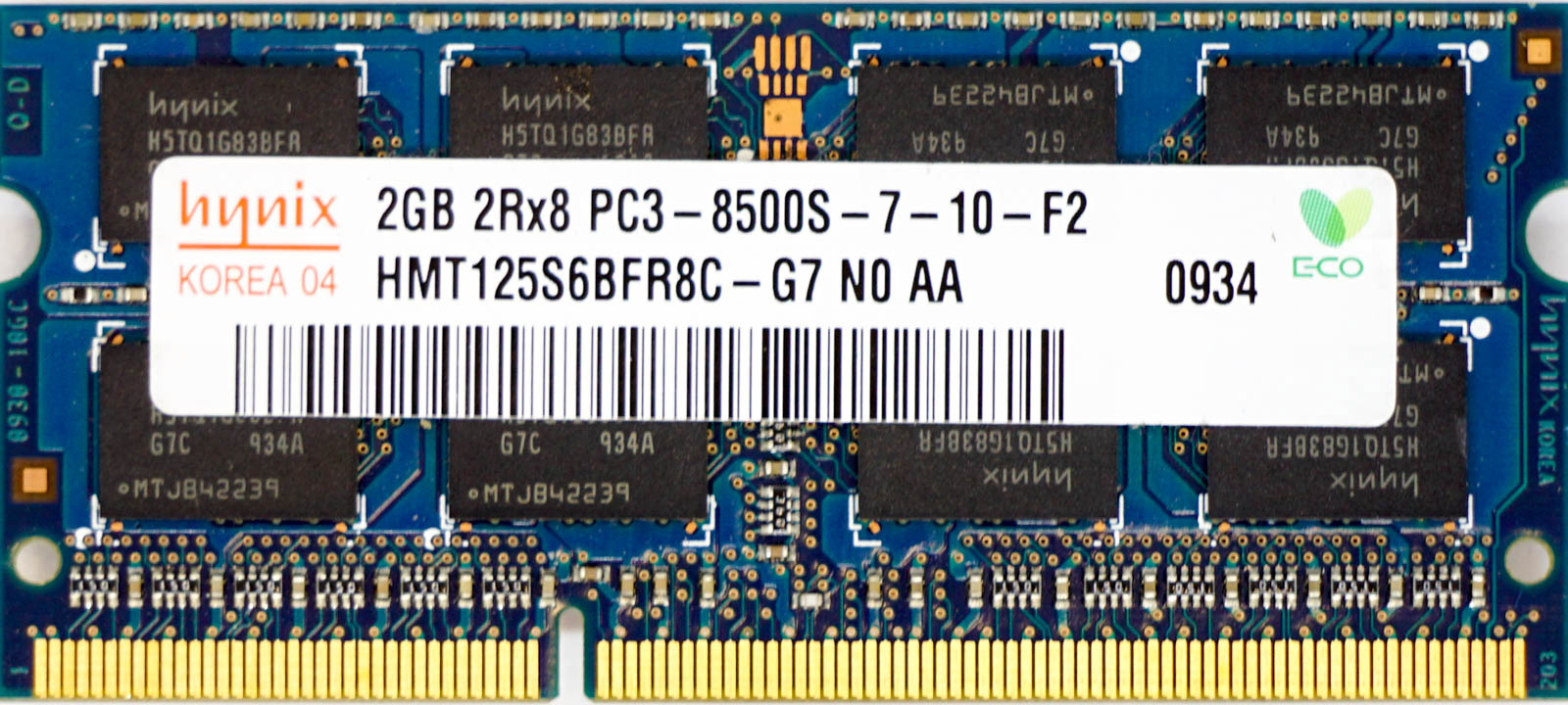 Hynix 2GB DDR3 1066MHz PC3-8500 Desktop Memory HMT125U6BFR8C-G7