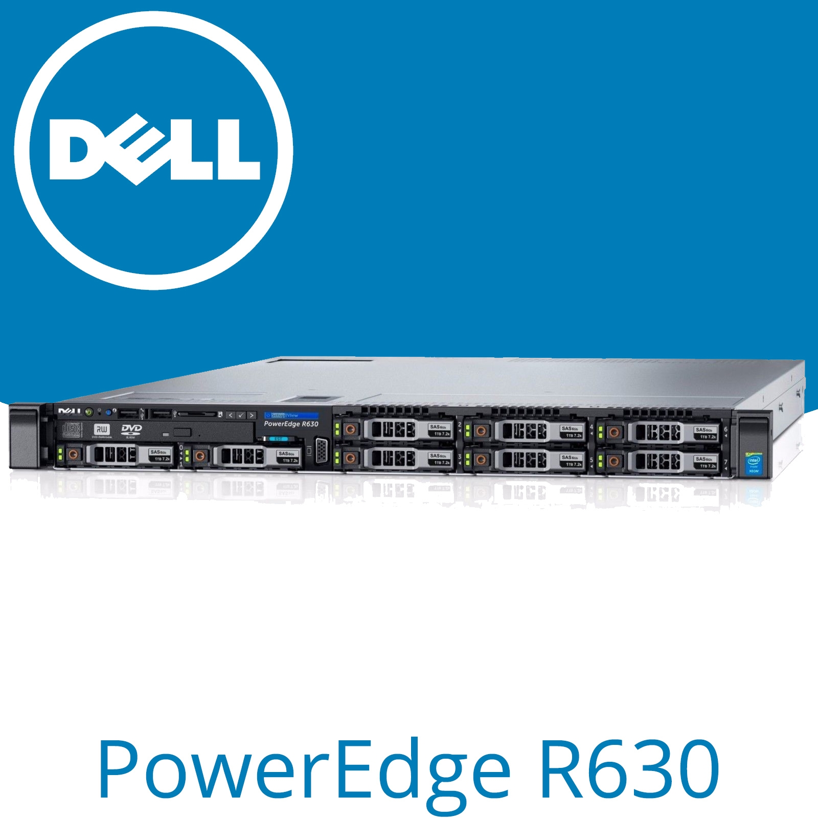Details about Dell PowerEdge R630 2x E5-2630 V3 Xeon Eight Core 32GB RAM  H730 1GB 1U Server