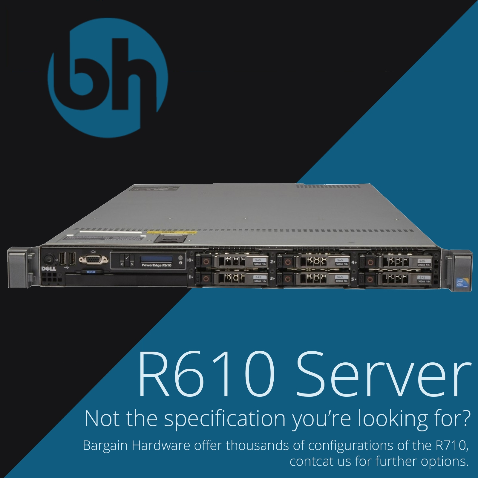 Details about Dell PowerEdge R610 2x 4/6-Core Intel Xeon Hex PERC H700 RAID  CTO 1U Rack Server