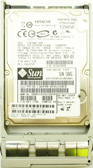 Sun (540-7711-01) 500GB SATA II (SFF) 3Gb/s 5.4K (390-0433-02) in Hot-Swap Caddy
