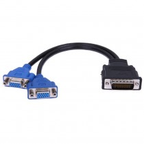 DMS60 (Male) to 2*VGA (Female) Cable