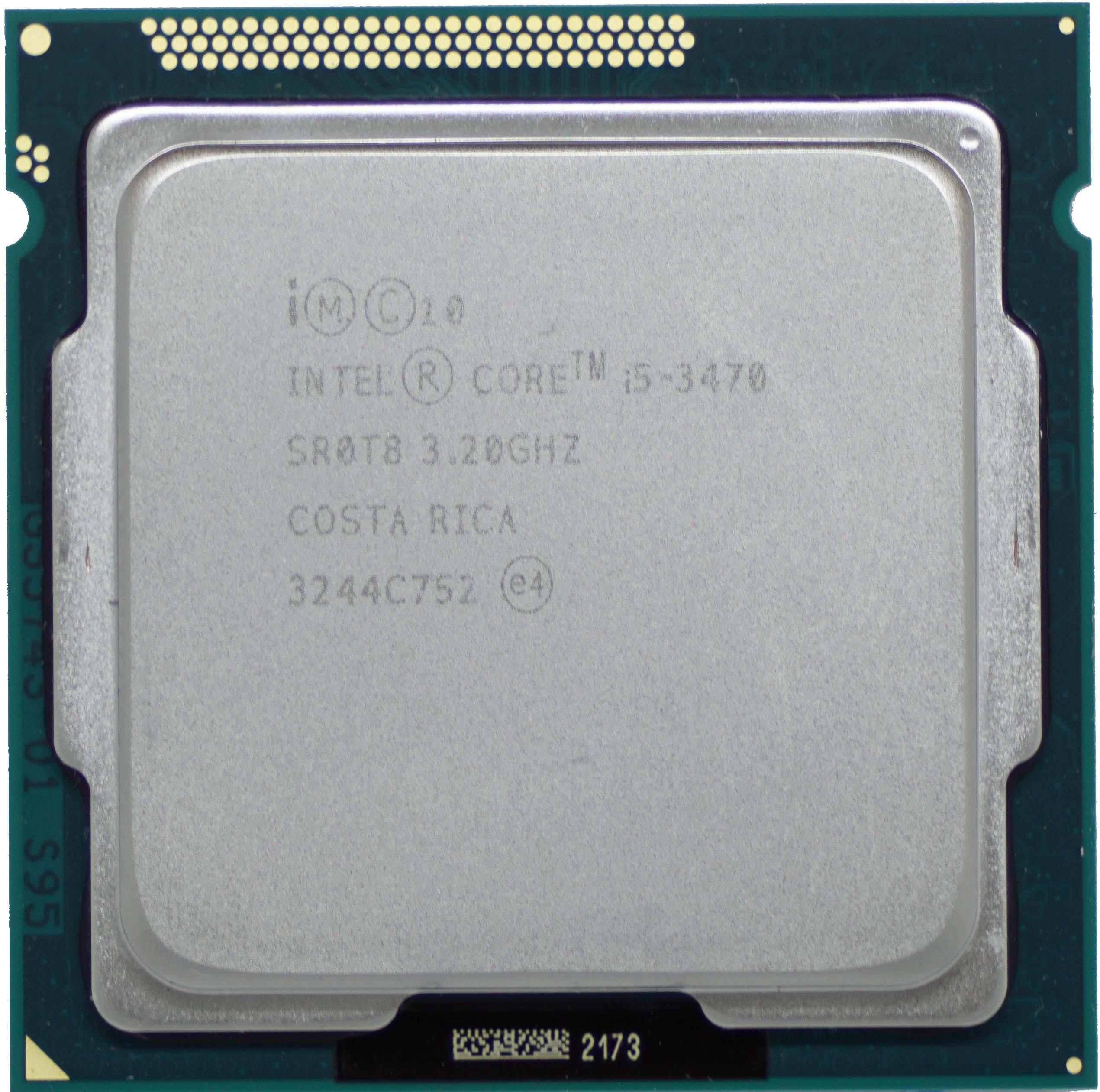 Intel Core i5-3470 (SR0T8) 3 20Ghz Quad (4) Core LGA1155 77W CPU