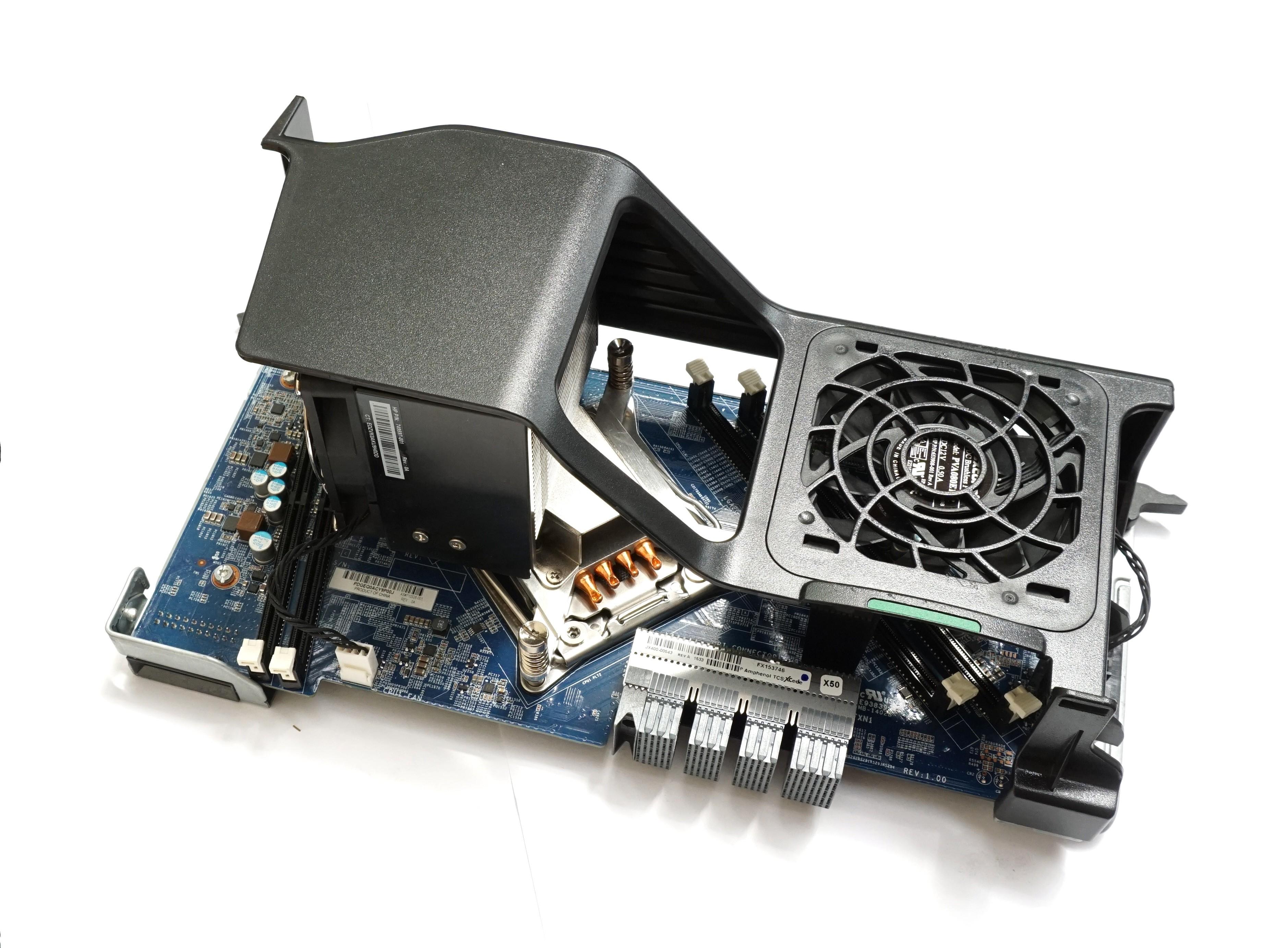 HP Z640 2nd CPU Riser Board inc  Fan & Heatsink