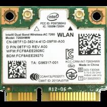 Dell Intel 7260HMW - Mini PCIe WiFi-AC & Bluetooth 4.0 Card