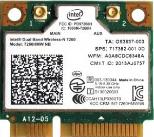 Intel Dual Band 7260HMW-NB Mini PCie WiFi-ABGN Card