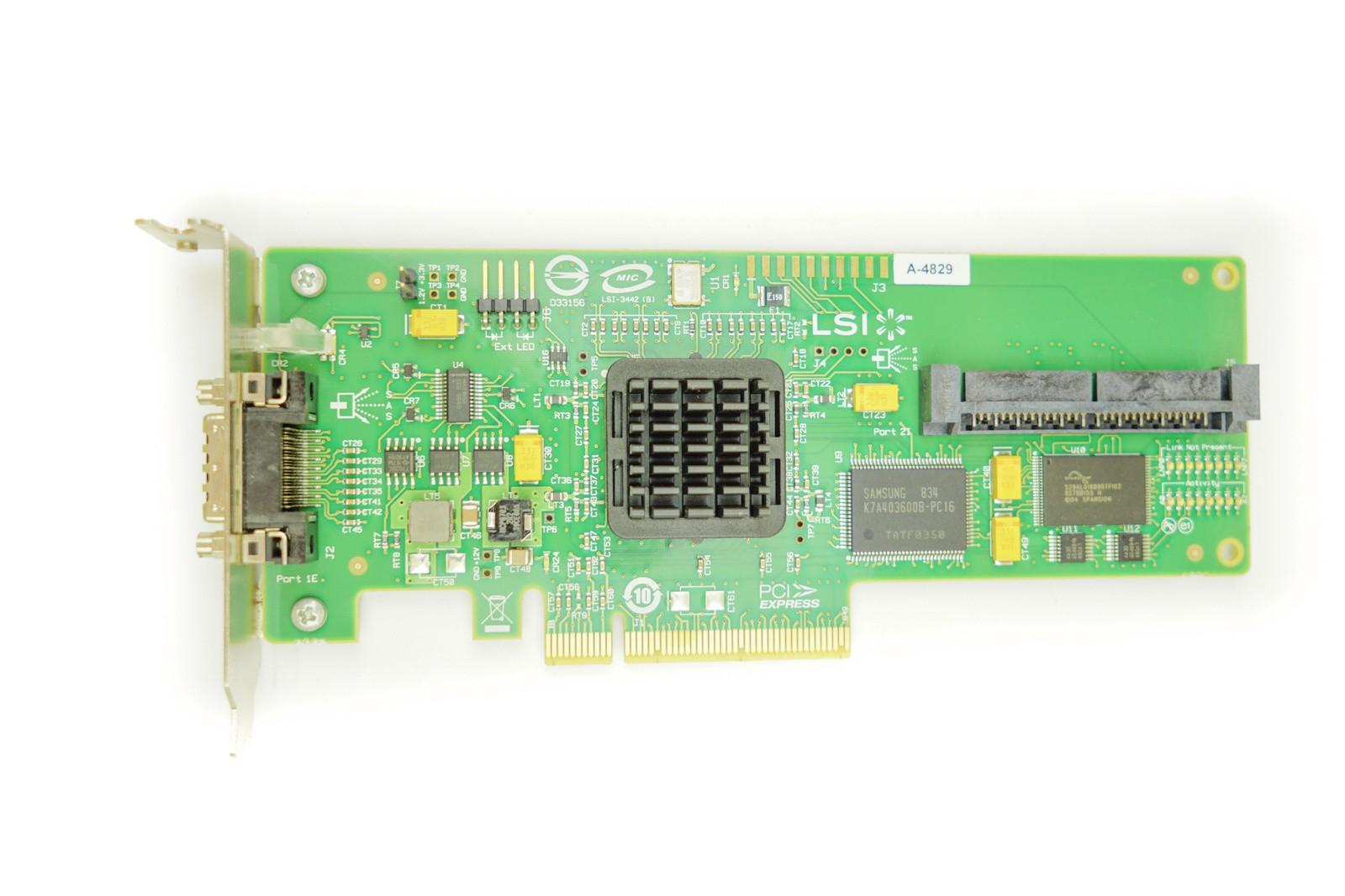 HP SAS3442E-HP - LP PCIe-x8 RAID Controller