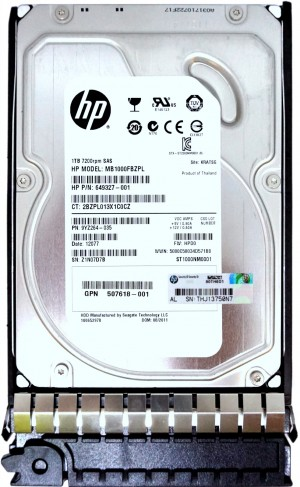"HP (649327-001) 1TB SAS-2 (3.5"") 6Gbps 7.2K HDD in G5 Hot-Swap Caddy"