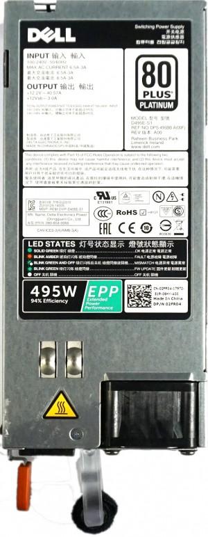 Dell PowerEdge '80 Plus Platinum' Hot-Swap PSU 495W