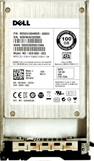 Dell (DYW412) 100GB SATA II (SFF) 3Gb/s in 11G Hot-Swap Caddy