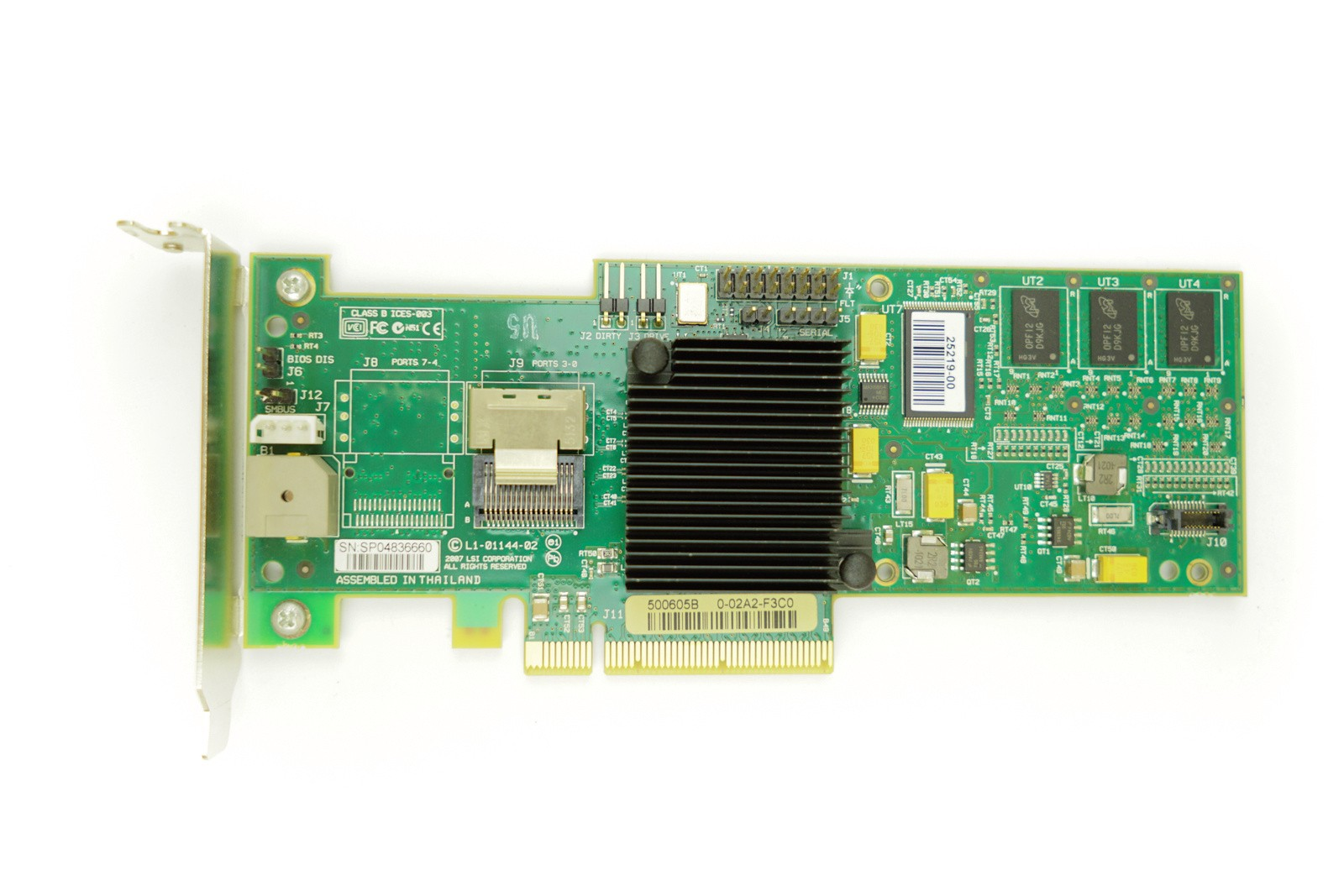LSI SAS8704EM2 128MB - LP PCIe-x8 RAID Controller