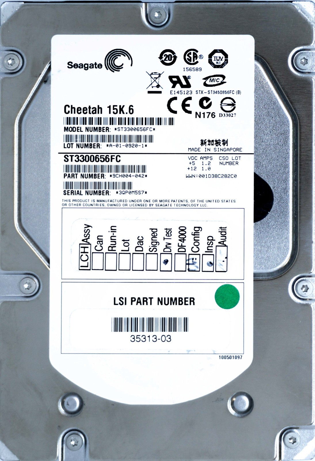 LSI (35313) 300GB FCAL (LFF) 15K HDD
