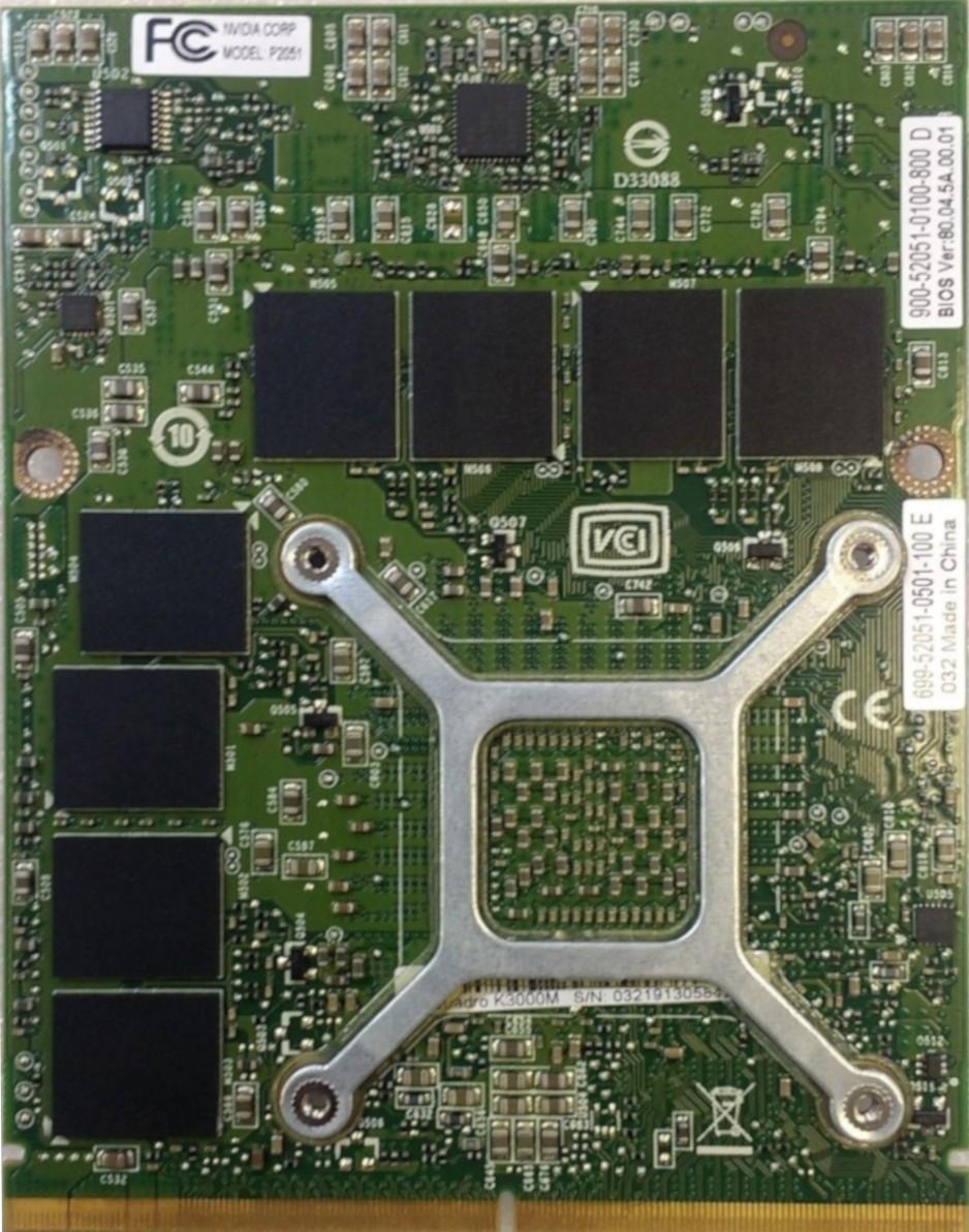 nVidia Quadro K3000M - 2GB GDDR5 MXM Internal GPU