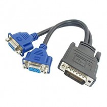 DMS59 (Male) to 2*VGA (Female) Cable