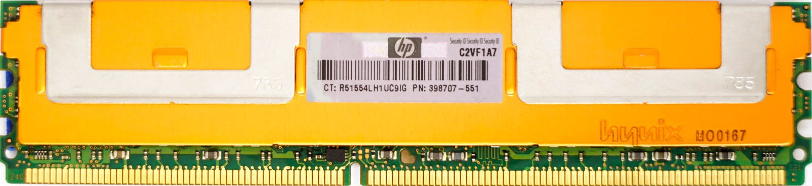 HP 2GB PC2-5300F Server Memory RAM 398707-551