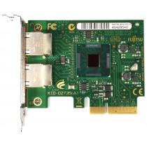 Fujitsu D2735-A12 Dual Port - 1GbE RJ-45 Low Profile PCIe-x4 Ethernet