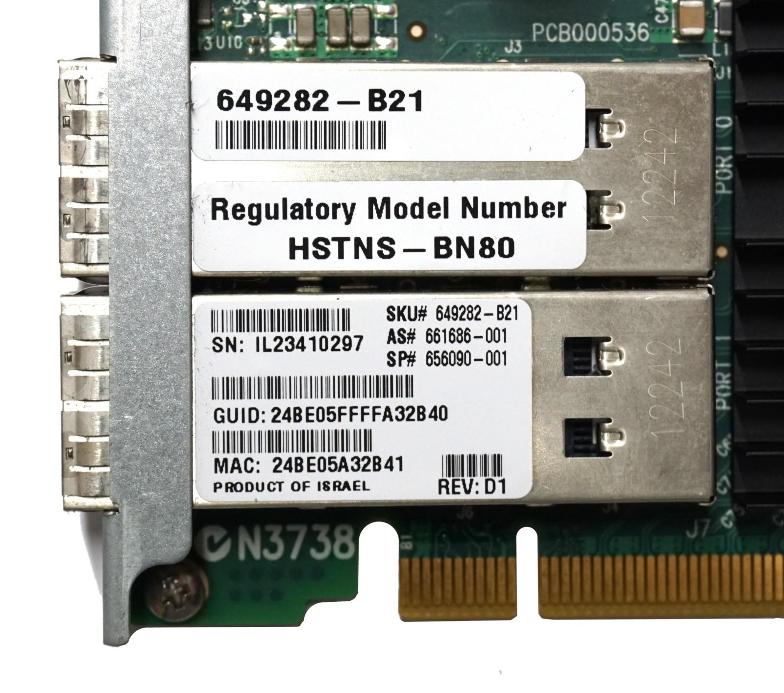 HP 544FLR-QSFP Dual Port - 40Gbps QSFP FLR HCA