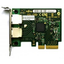 Fujitsu Intel I350-T2 Dual Port - 1GbE RJ45 Low Profile PCIe-x4 Ethernet Card