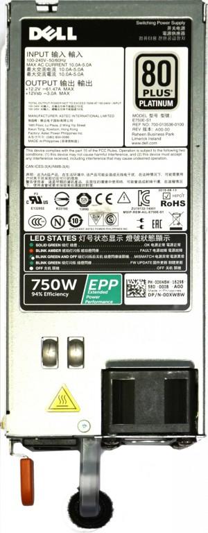 Dell T430, T630, R630, R730 R730XD, R640, R740 HS PSU 750W 'Platinum'