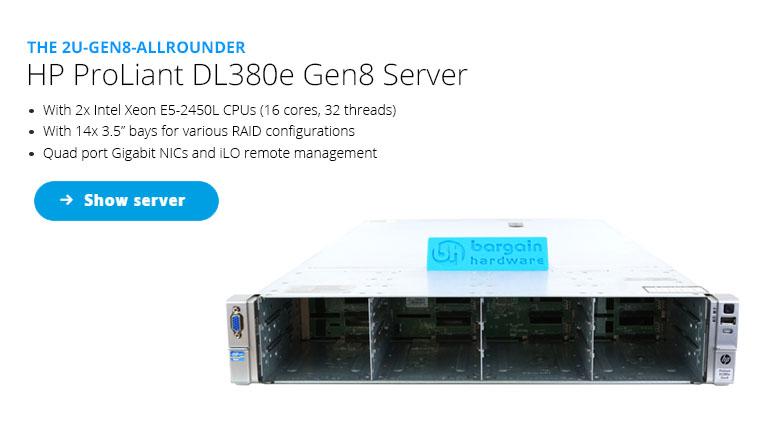 HP DL380e G8 Storage Server