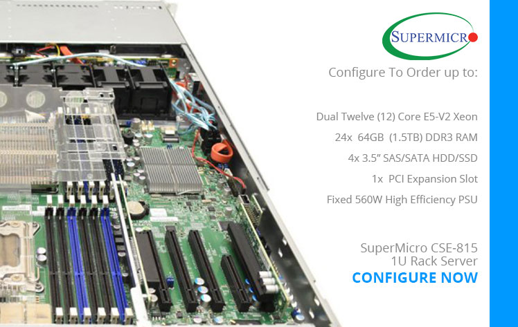 SuperMicro CSE-815 1U Rack Server JBOD Refurbished Server